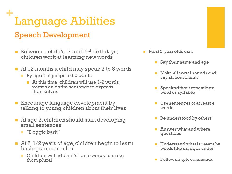 Language Abilities Speech Development