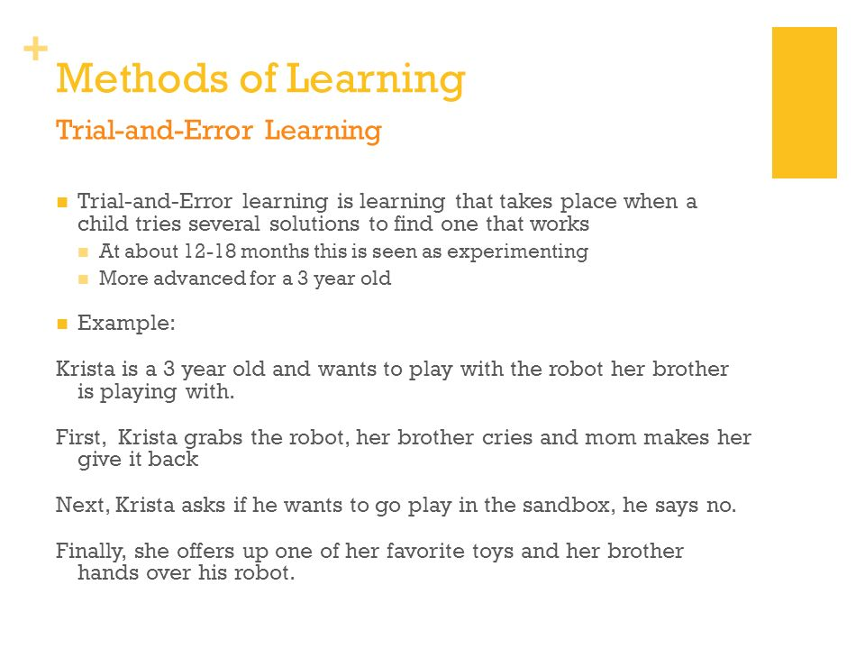 Methods of Learning Trial-and-Error Learning