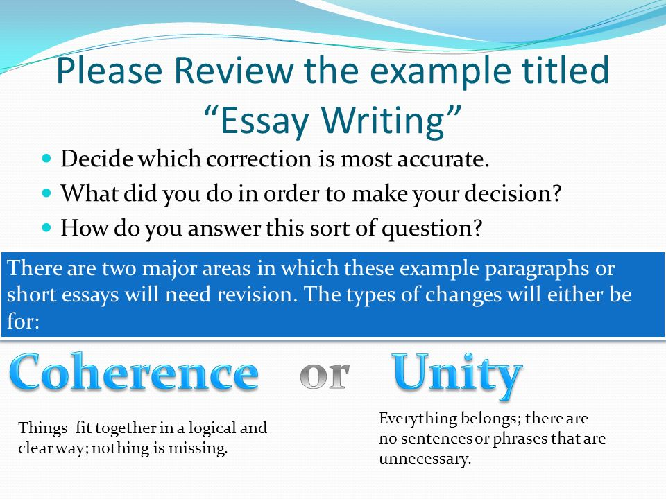 Please Review the example titled Essay Writing