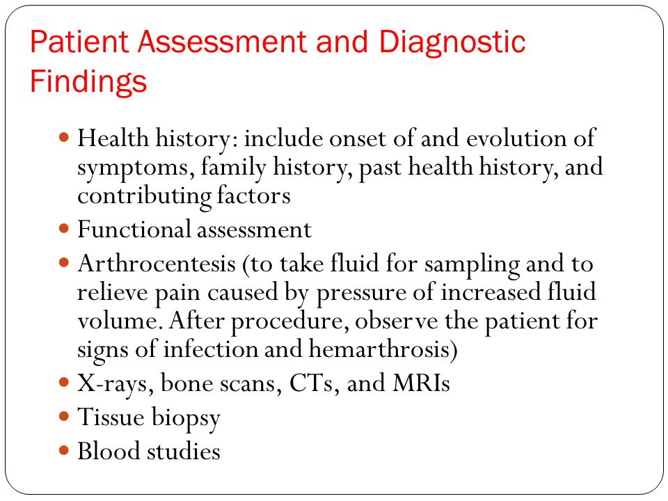 Patient Assessment and Diagnostic Findings