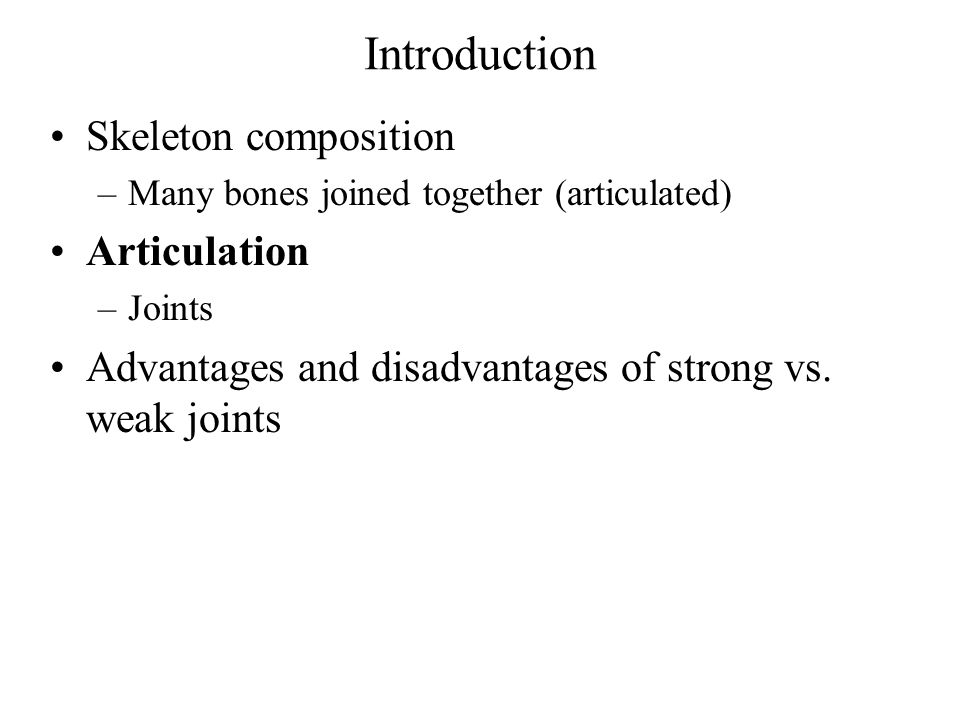 Introduction Skeleton composition Articulation