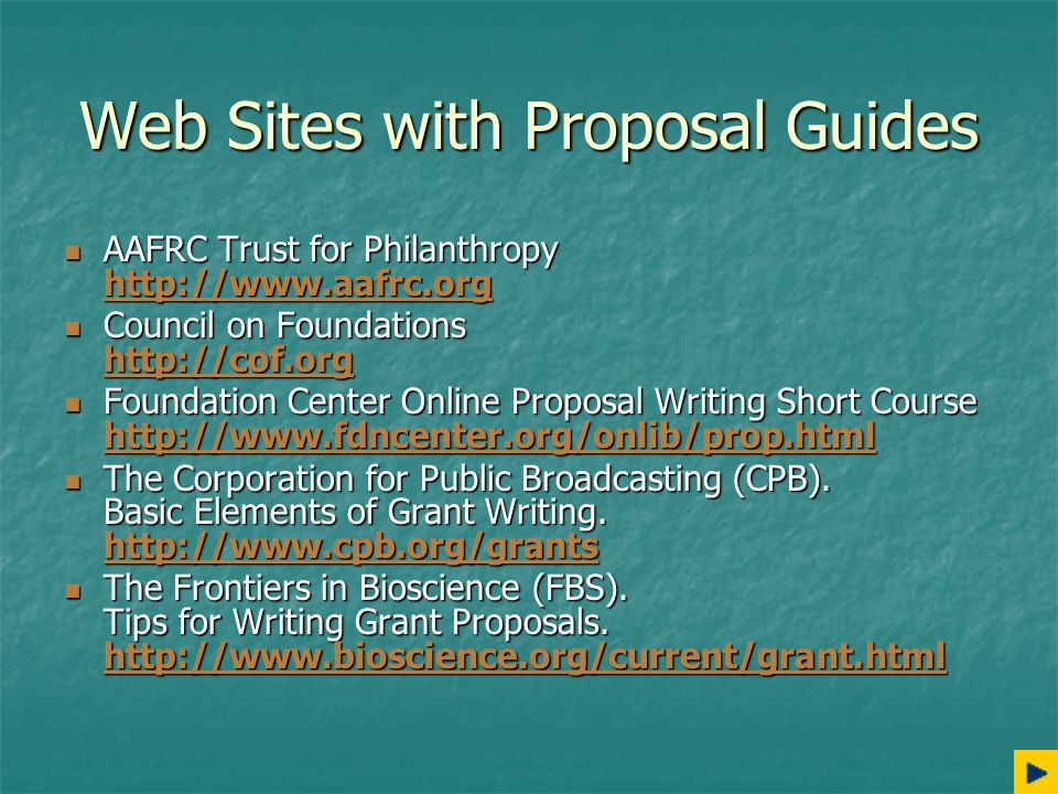 grant proposal writing tips Some essential grant writing tips writing a proposal for a grant can be time-consuming depending on how you approach it with this guide, you are going to note that, before writing a grant proposal, you need to have a problem that you need to solve but you don't have the means step 1: identify the.