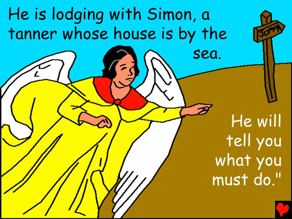 He is lodging with Simon, a