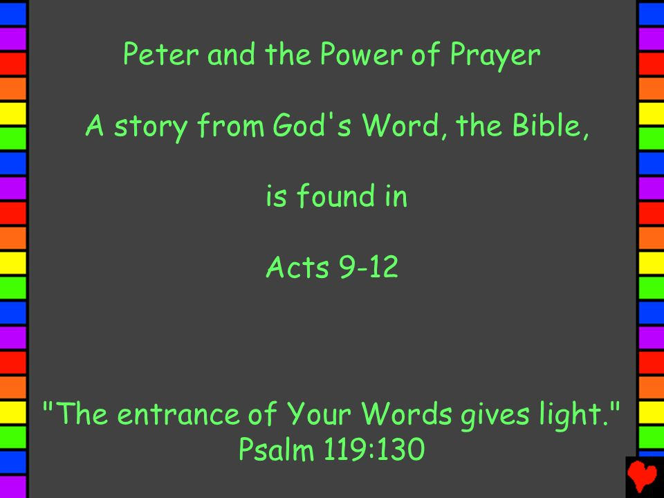 Peter and the Power of Prayer A story from God s Word, the Bible,