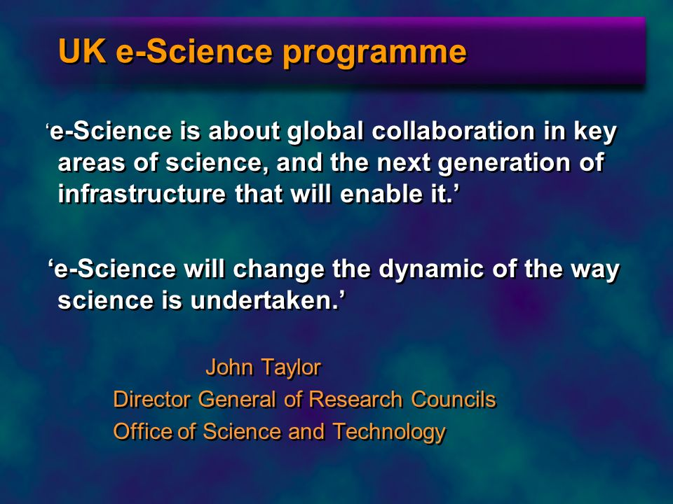 UK e-Science programme