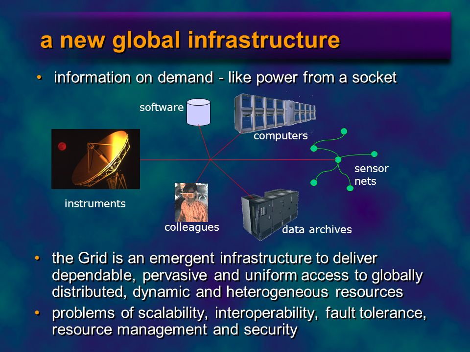 a new global infrastructure