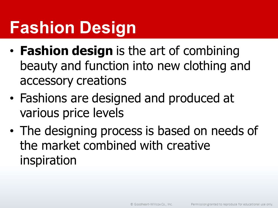 9 Chapter The Fashion Design Segment 9 Chapter The Fashion Design Segment Ppt Video Online Download