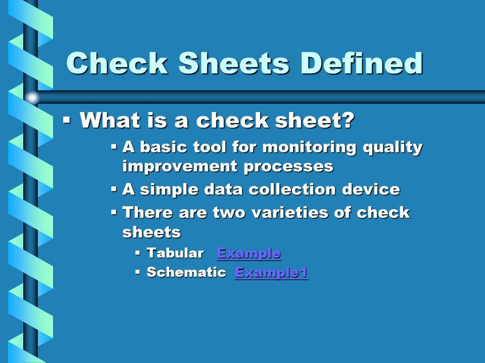 how to make a check sheet