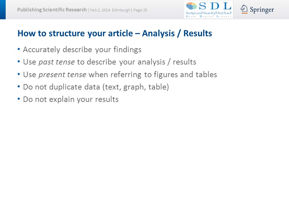 structure of an article analysis