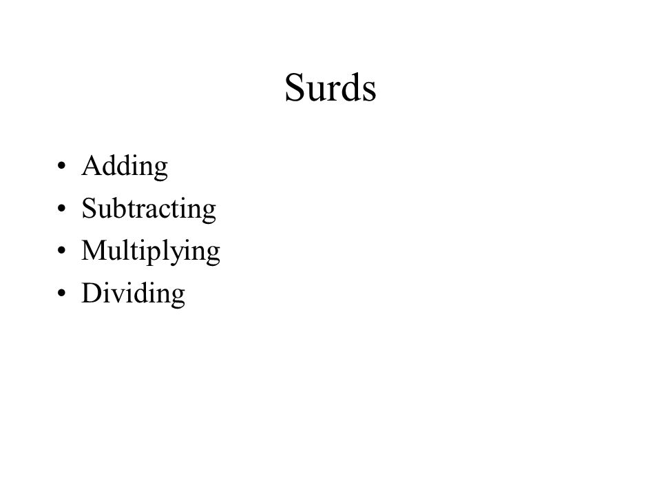 2 Surds Adding Subtracting Multiplying Dividing: Adding Surds Worksheet At Alzheimers-prions.com