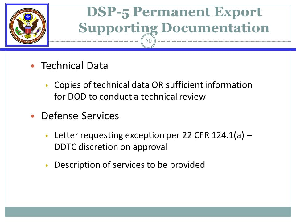 State Department Export Controls Deputy Director Of Licensing Ppt