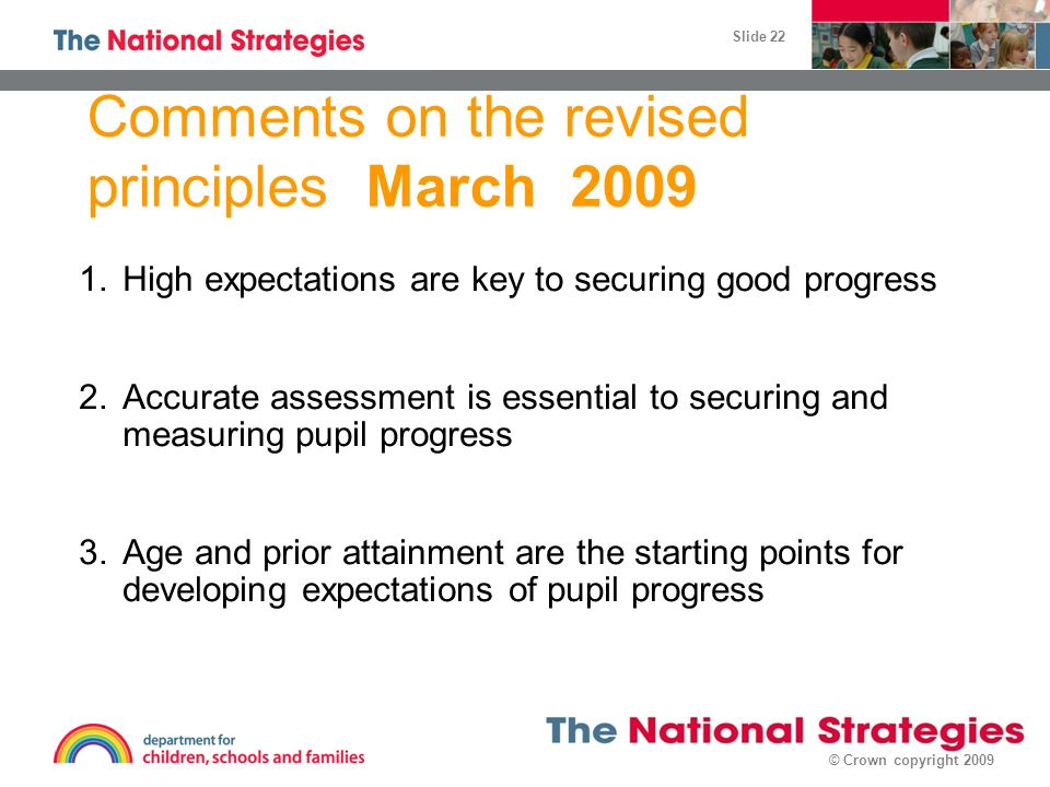 Comments on the revised principles March 2009