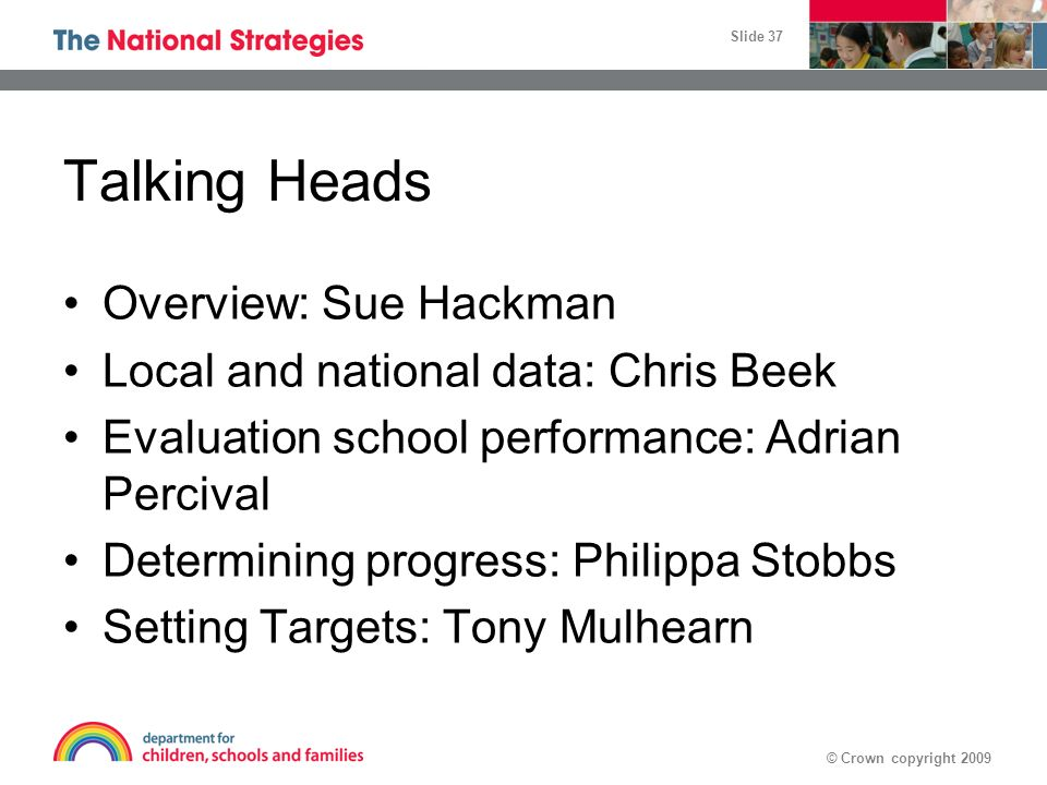 Talking Heads Overview: Sue Hackman