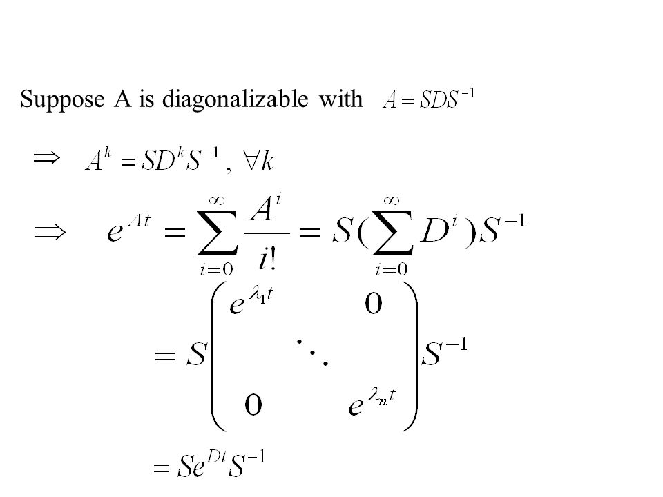 Suppose A is diagonalizable with