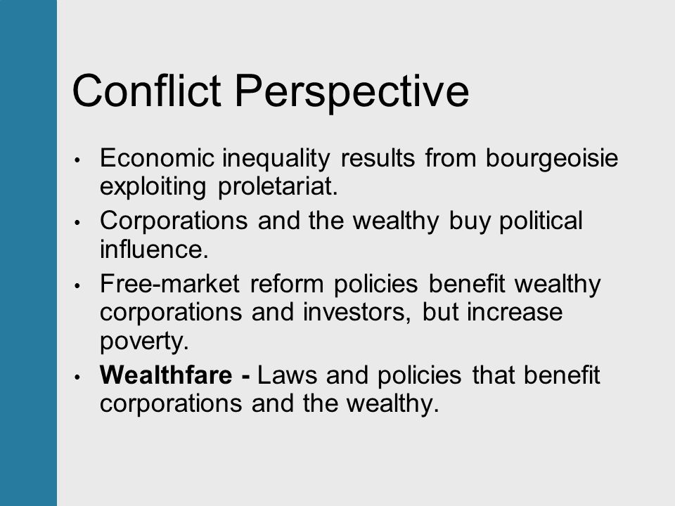 conflict perspective on poverty