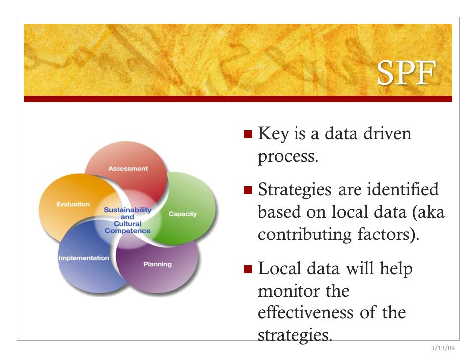 SPF Key is a data driven process.