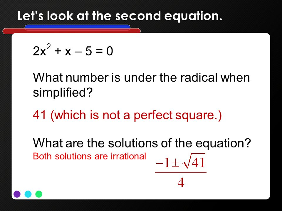 Let's look at the second equation.