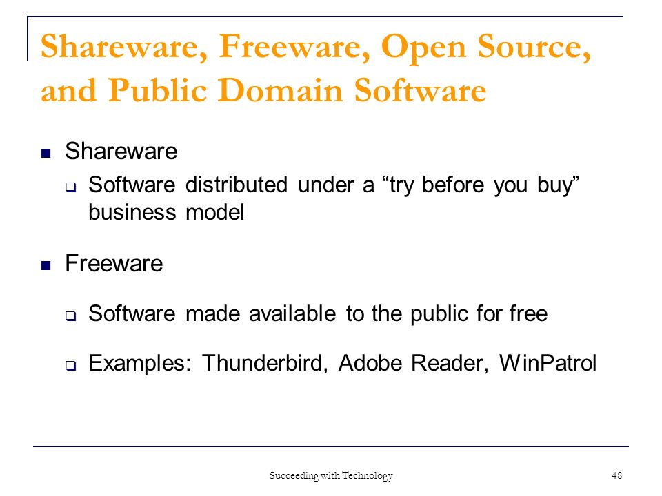 Shareware Freeware Open Source And Public Domain Software