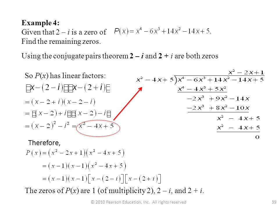 2010 Pearson Education Inc All Rights Reserved: Finding Zeros Of A Polynomial Worksheet At Alzheimers-prions.com