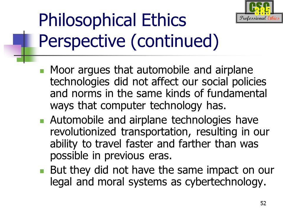 how does technology affect ethics