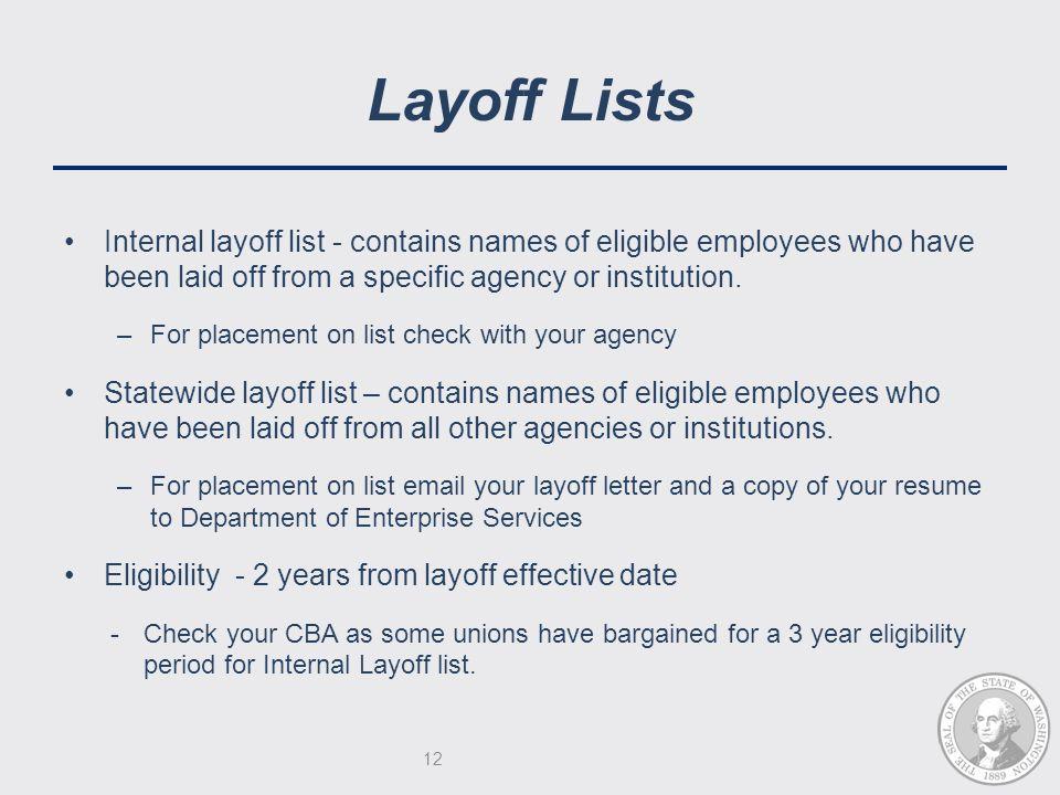 12 layoff