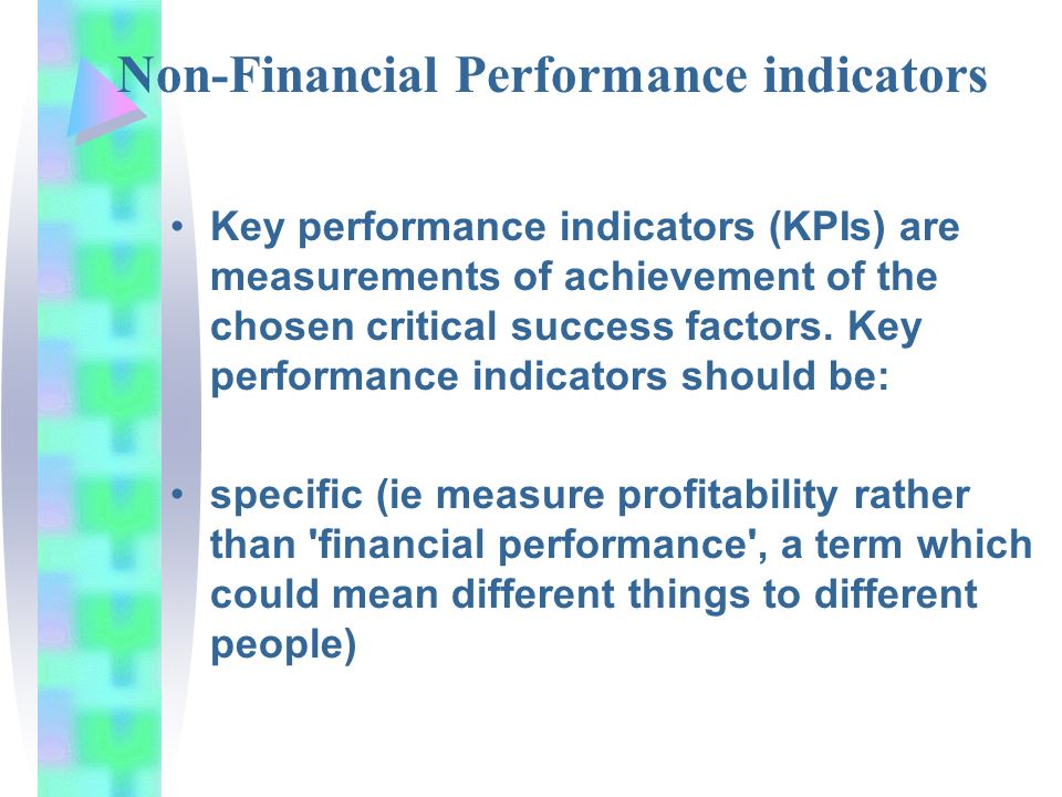 can a kpi be non financial