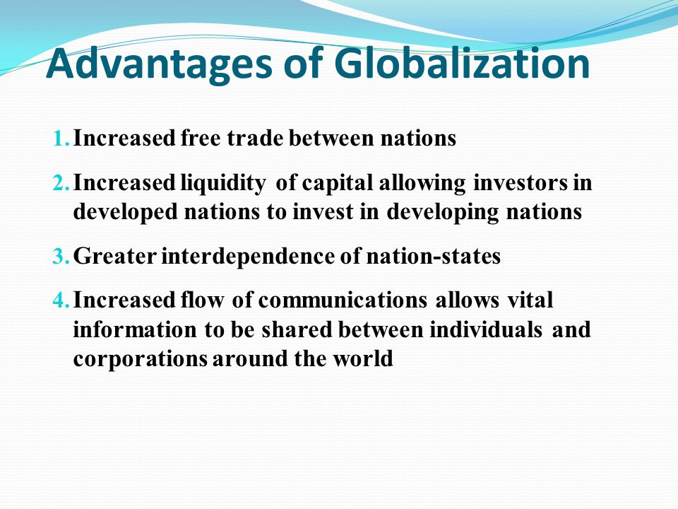 what are the disadvantages of globalization