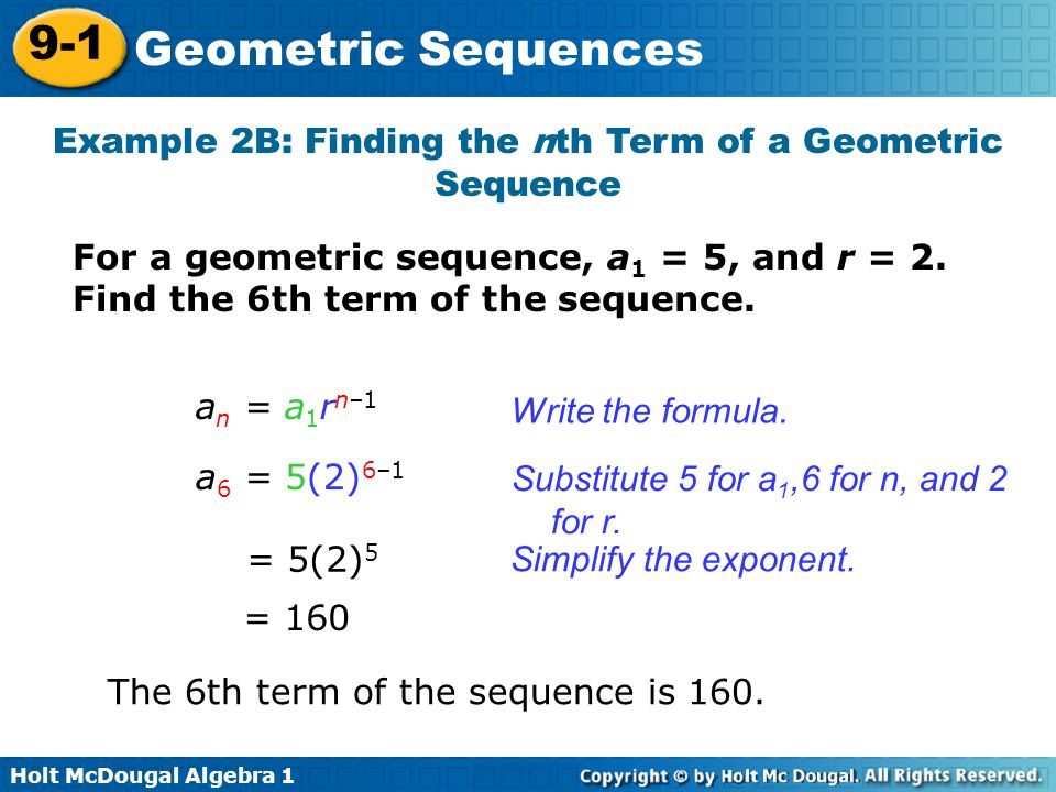 9-1 Geometric Sequences Warm Up Lesson Presentation Lesson Quiz