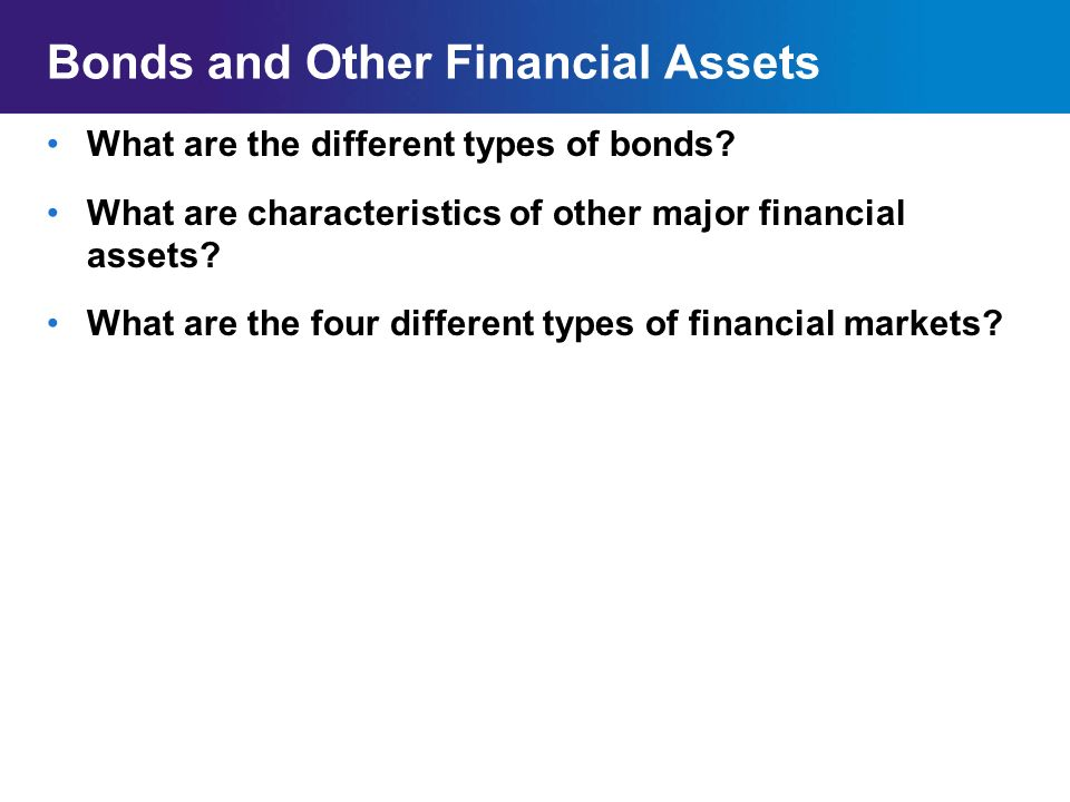 Bonds and Other Financial Assets