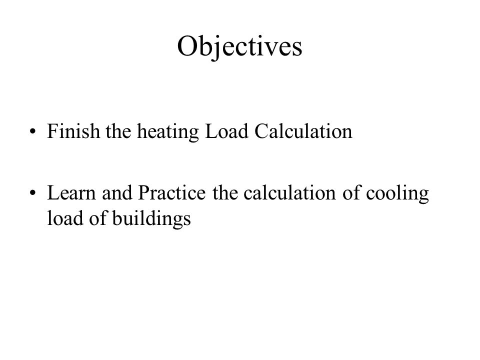 Step By Step Cooling Load Calculation Ppt