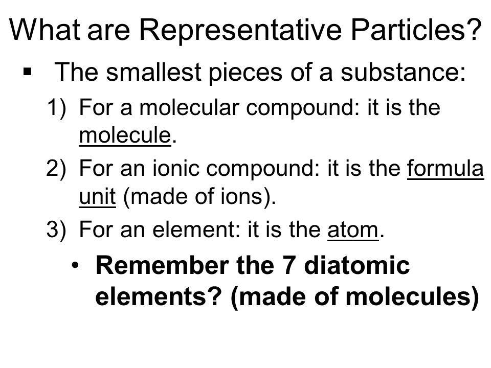 What are Representative Particles