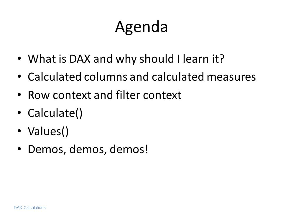 Implementing Common Business Calculations in DAX - ppt video online