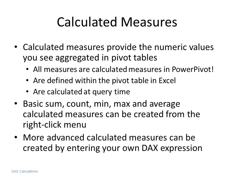 Implementing Common Business Calculations in DAX - ppt video