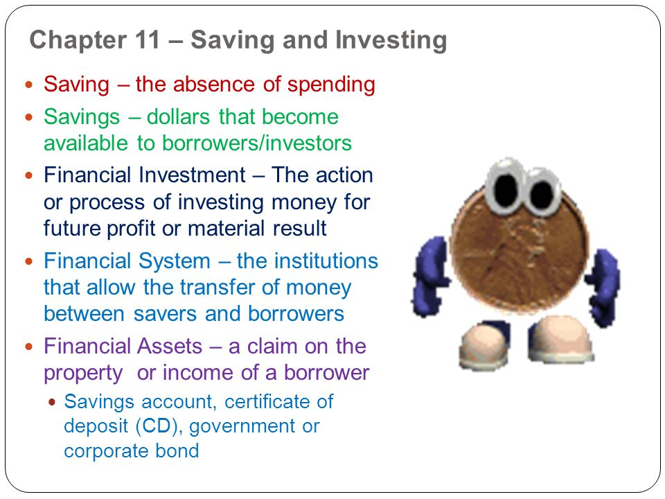 Chapter 11 – Saving and Investing