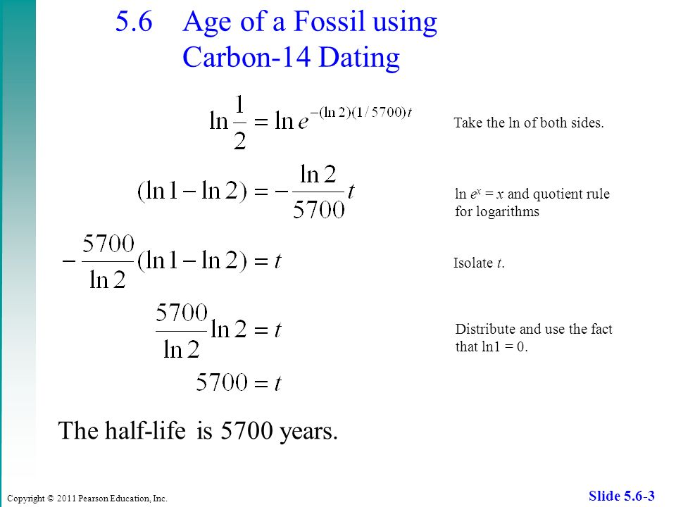 How can you use carbon hookup to find the age of a fossil
