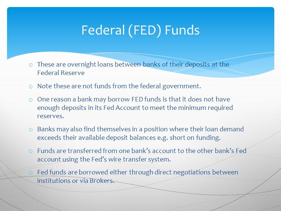 Overnight Loans Between Banks That Belong