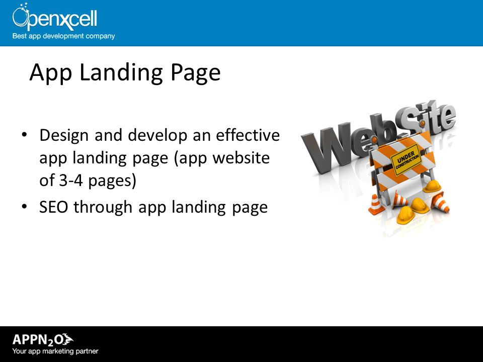 App Landing Page Design and develop an effective app landing page (app website of 3-4 pages) SEO through app landing page.