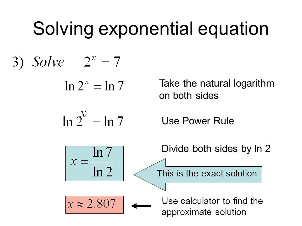 And Logarithmic Equations Ppt Download