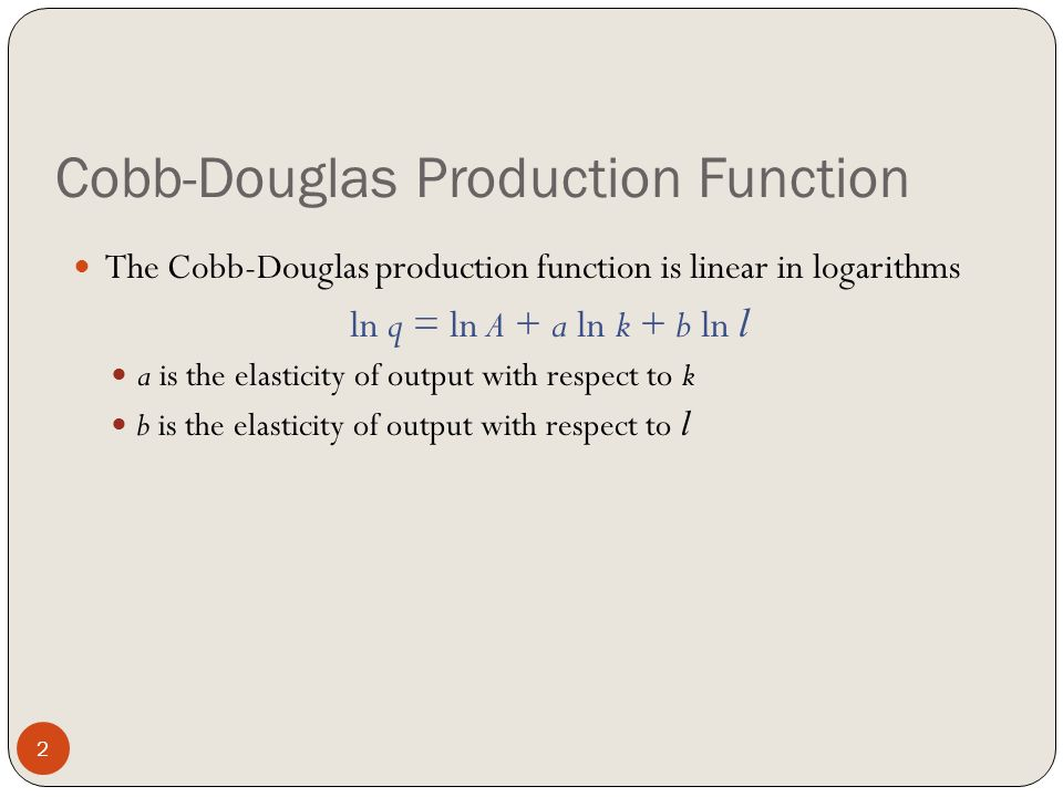 Cobb-douglas production function differentiation example youtube.
