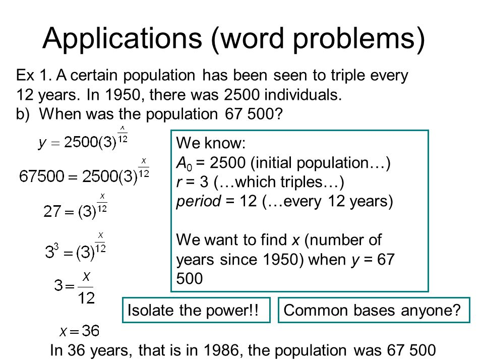 Rational Exponents and More Word Problems - ppt download