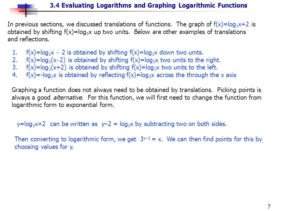 Logarithms are important in many applications of ...