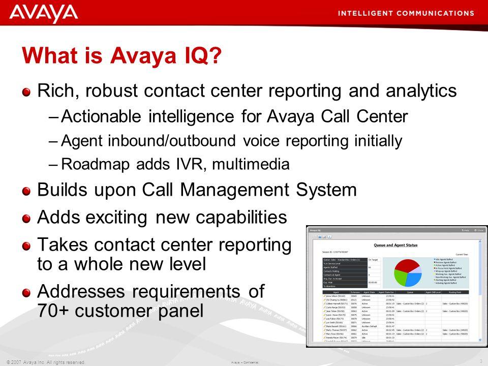Avaya Cms Reports