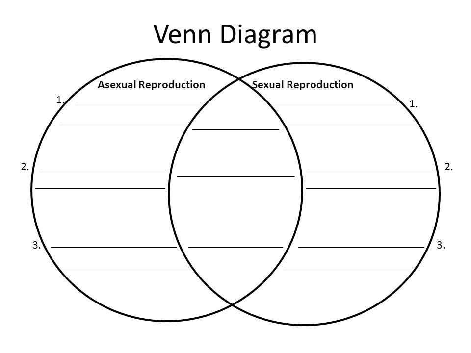 Asexual and sexual reproduction charts