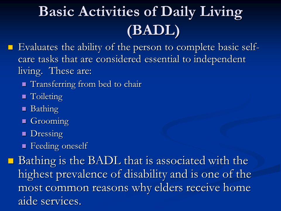 tasks of daily living