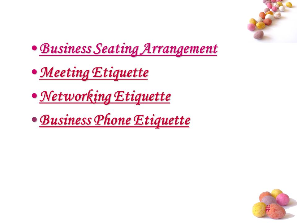 Business Etiquette Presented by: MBA. - ppt video online download
