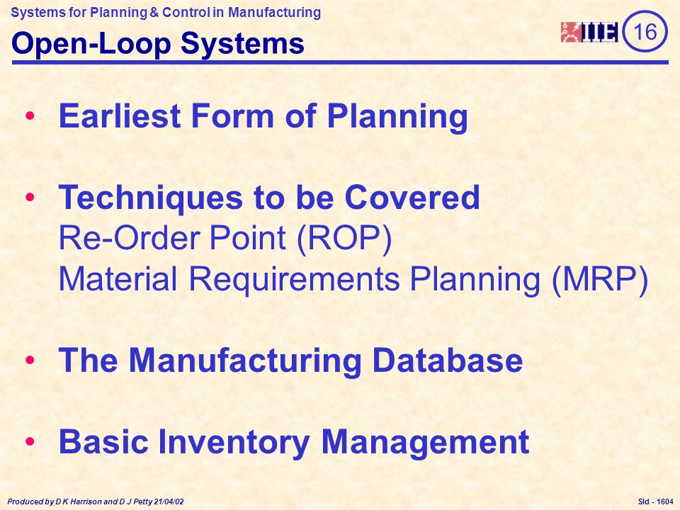 manufacturing planning and control pdf