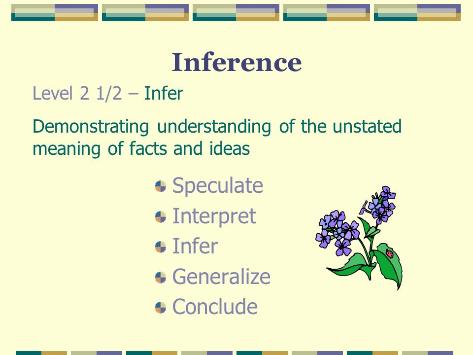 Inference Speculate Interpret Infer Generalize Conclude