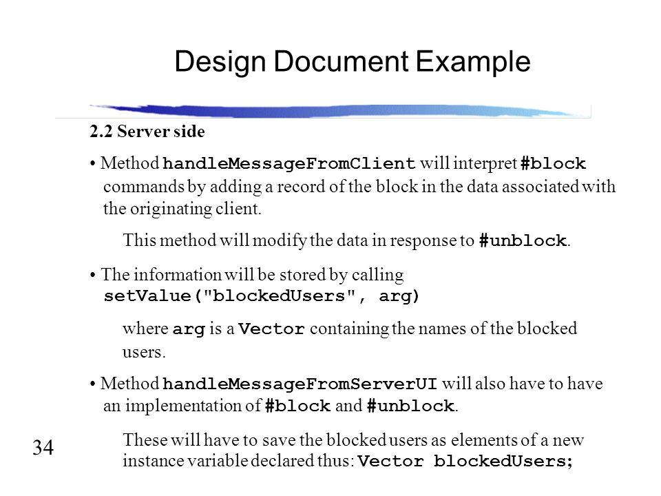 Example of document design.