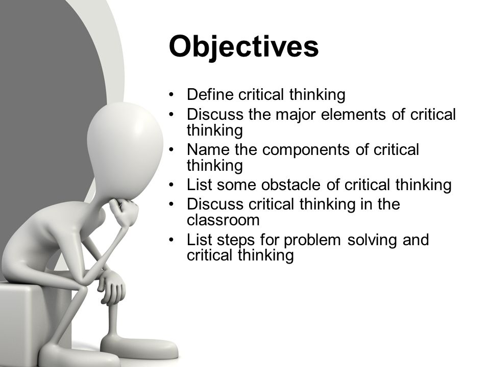critical thinking and problem solving strategies