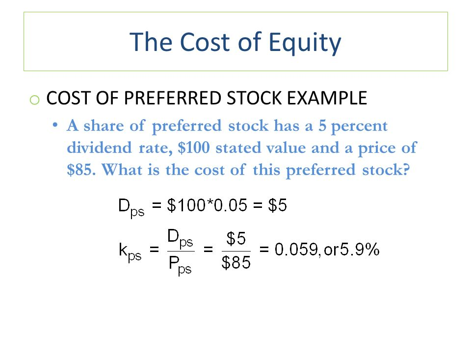 preferred stock examples